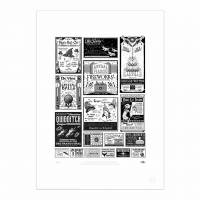 MinaLima - Adverts from The New York Ghost Print