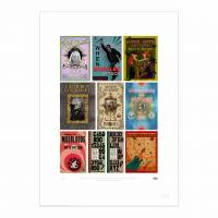 MinaLima - Book Covers from The Wizarding World Print