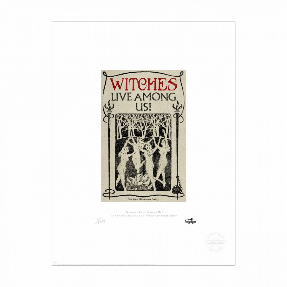 Witches Live Among Us Print Minalima