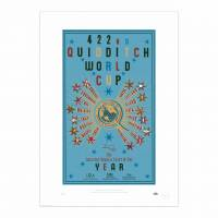MinaLima - The 422nd Quidditch World Cup Poster - Blue Print