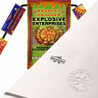 MinaLima - Firework Display from Weasleys' Wizard Wheezes Print