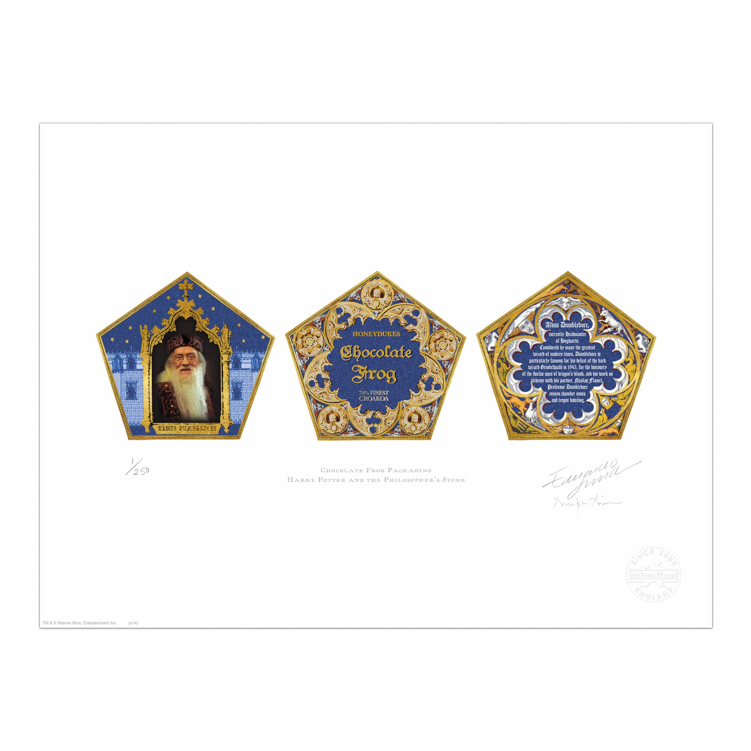 Chocolate Frog Packaging Print, Harry Potter - MinaLima Throughout Chocolate Frog Card Template