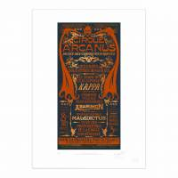 MinaLima - <b>Edition of 250 Our Premium Print is embellished with orange foil, comes with a Certificate of Authenticity, is numbered, embossed and signed by Miraphora and Eduardo printed on Hahnemühle fine art paper.</b>
