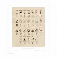 MinaLima - Harry Potter's Alphabet Magnet Set