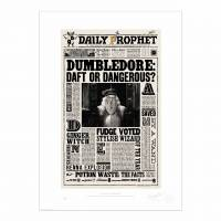 MinaLima - Daily Prophet Dumbledore Daft or Dangerous Tea Towel
