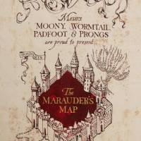 MinaLima - Message to Snape - Marauder's Map Detail Print