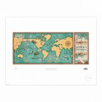 MinaLima - The Jungle Book - Map of Koticks Journey Print