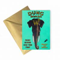 MinaLima - Dung Bombs Foiled Notecard