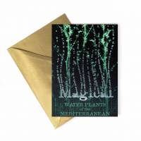 MinaLima - Magical Water Plants of the Mediterranean Foiled Notecard