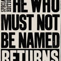 MinaLima - He Who Must Not Be Named Returns Tea Towel
