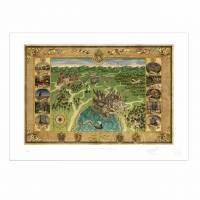 MinaLima - Map of Hogwarts School of Witchcraft & Wizardry Print