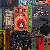 MinaLima - Hogwarts Library Book Covers Wallpaper (Back Order)
