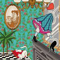 MinaLima - Alice in Wonderland - Looking-Glass House Print