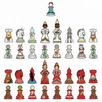 MinaLima - Alice in Wonderland - Looking-Glass Chess Print