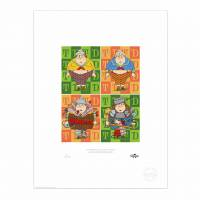 MinaLima - Alice in Wonderland - Tweedledum and Tweedledee Print