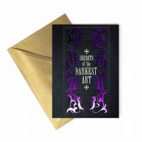 MinaLima - Secrets of the Darkest Art - Foiled Notecard