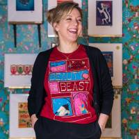 MinaLima - Beauty and the Beast T-Shirt pour femmes