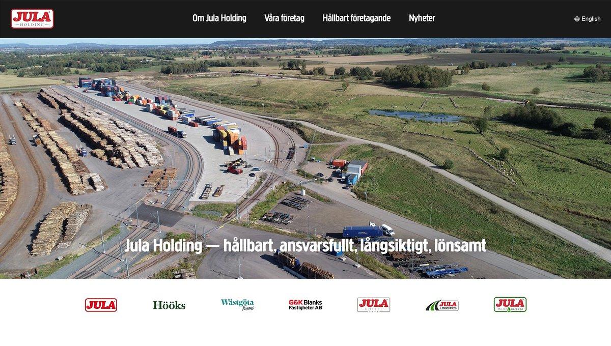 Från startsidan på Jula Holdings hemsida