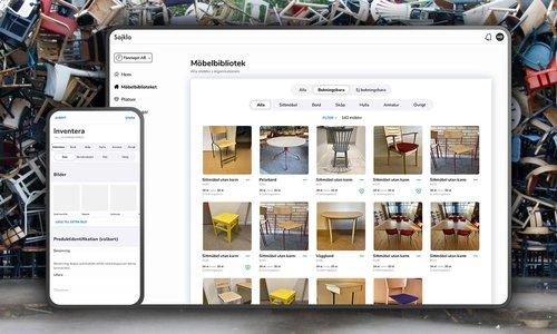 Sajkla - en digital plattform för cirkulära möbelflöden