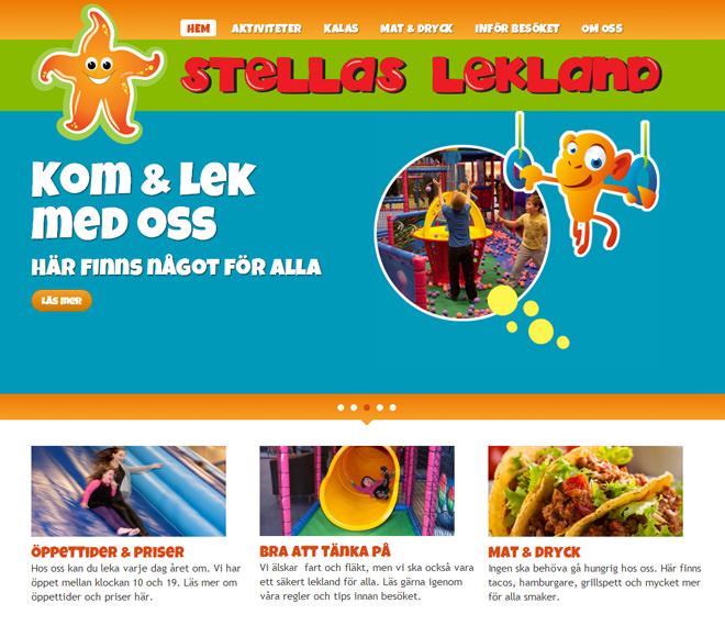 Stellas Lekland Startsida för webben