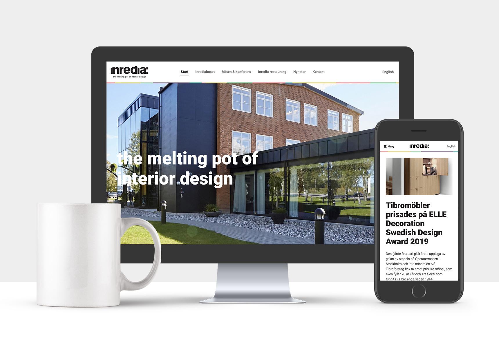 Visar Inredias nya webb i desktop och mobil