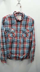 Blend the world red blue flannel large 4