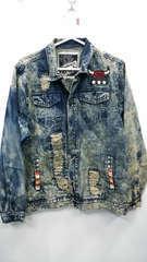 Diamond stash denim  acid wash jacket 2