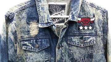 Diamond stash denim  acid wash jacket 1