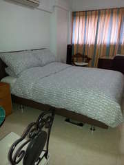 View of bed