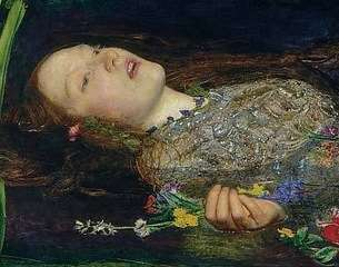 John everett millais ophelia detail face