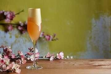 Golden kimono spring