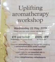 1 uplifting aromatherapy workshop