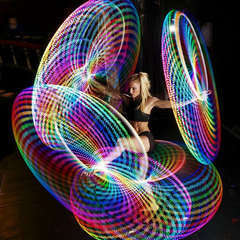 Led hula hoop profile