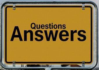 Questions answers signage 208494