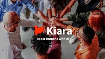 Kiara team photo with logo