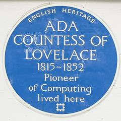 Ada lovelace blue plaque