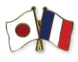 Flag pins japan france