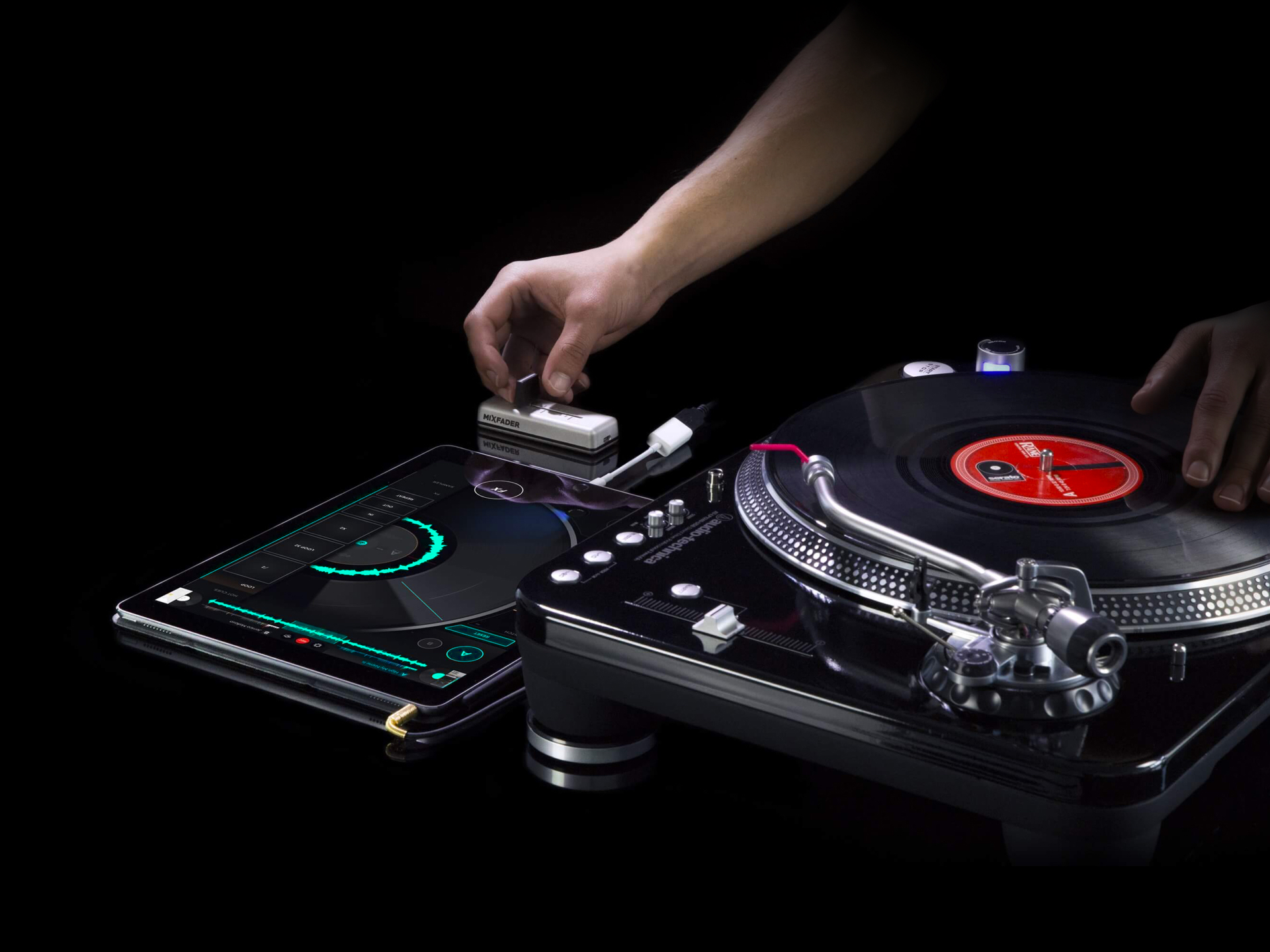 Mixfader and turntable