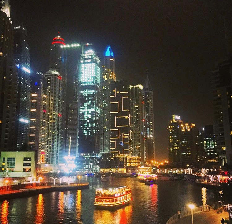Unforgettable place Dubai marina❤️ There you will find a lot of luxury building and very,very tall,between them beautiful lake where is different size of the boats offer you to enjoy the exclusive view.Marina at night has a lot of colors of the light and in the morning you can see the shining glass building. Very famous restaurant making very delicious and different kind of food.Also there the big bridge and from up you can see all the Marina and make very nice pictures.The place are so famous by skydive because a lot of people coming there to try jamp down from the highest building.