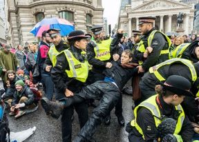 <p>Extinction Rebellion group of activists are still protesting in the city even though there has been a ban on protests. The group said that they had taken a few steps towards a judicial review of the ban imposed on them. On Tuesday Morning, the group targeted the Department for Transport and MI5.&nbsp;</p><p>A spokesperson from the department said that these protesters should not disrupt the day-to-day lives of the people of London. Gail Bradbrook, who is the co-founder of the Extinction Rebellion group, was arrested after he climbed the entrance of the Department for Transport. According to the reports, the government says that peaceful protests should be allowed, but if any group disrupts the peace, they have no choice other than to ban it from holding protests.&nbsp;</p><p>&nbsp;</p>
