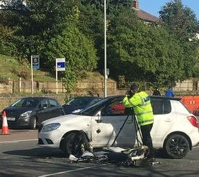 <p>The Police had to close the Kirkstall Road from both directions after a bike met with an accident with White SKida Fabia. The accident took place at 10 am. The 71-year-old who was driving Skoda suffered minor injuries while the 28-year-old biker sustained severe injuries. The paramedics took both of them to the hospital. The accident took place outside a storage facility on Kirkstall Road between Burley Wood Mount and Woodside View. It is one of the busiest commuter routes into and out of Leeds. To make sure there is no chain reaction of accidents happening on the road, the Police closed the course from both ends. Only after clearing the scene, the Police started to ease the traffic, and the way becomes fully functional at 3:45 pm.</p><p>&nbsp;</p>