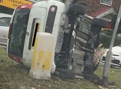 <p>The Leeds police department is looking for a driver who fled the scene after crashing into a car near a major roundabout. According to the police, two vehicles met with the accident on Crossgates roundabout at around 2:15 pm just outside the New Travellers Rest pub, where the A6120 Outer Ring Road meets Crossgates Road.&nbsp;</p><p>The white fiat panda flipped as a result of the accident, and the two passengers got trapped inside the car. However, the other driver fled the scene immediately. The crew from the fire department of Killingbeck reached the scene and rescued both passengers. According to the reports, the injuries were not severe. A few bus services were diverted to avoid traffic jam for some time.&nbsp;</p>