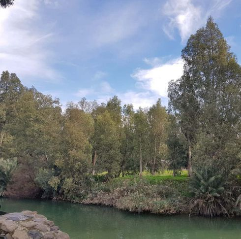 One of the most famous rivers of the planet, the Jordan River - the natural border between Israel and Jordan and a popular pilgrimage place for Christians in a hurry to undergo a symbolic rite of baptism in the very place where Jesus Christ once received from John the Baptist.