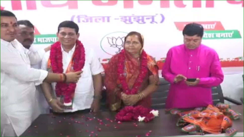 <p>Sushila Sigada will contest from Mandawa Assembly seat in the by-election, BJP joined one and a half hours ago</p>