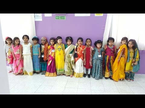 <p>Talent of kids models shown in a traditional collection with Indo-Western</p>