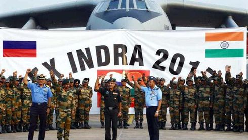 <p>Indra 2019, a joint exercise between India and Russia, has started at three locations simultaneously. This exercise is being held at three places simultaneously Uttar Pradesh, Goa and Pune.</p>