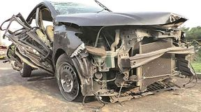 """<p>Three individuals were killed and two harmed after a speeding vehicle overturned in Eco Park territory of New Town on the eastern edges of Kolkata. According to police, the vehicle was dangerously fast and the driver lost control at the time of taking a U-turn, because of which it slammed into a Metro railroad column and then it turned turtle.&nbsp;Five men, Mohit Jain, Sarbajit Singh, Kaushal Jawar, Nishid Jawar and Mayank Jawar — all inhabitants of Salt lake and Kolkata — were present in the vehicle. Nishid, Kaushal and Mayank, who were at the back of the vehicle, died on the spot, while Mohit — who was driving the car and Sarbajit, both are at a private clinic in critical condition. """"This happened around 5:15 am, the point at which the Honda City with a West Bengal number - WB088567 – came from Narkelbagan side at a fast speed and ran into a Metro column before toppling, while at the same time taking a U-turn,"""" said a senior official of Bidhannagar police commissionerate. The vehicle was going towards the airport.</p>"""