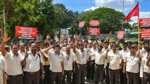 <p>The Employees of HAL who have gone on strike on the issue of Wage revision have got an order from Karnataka's court to stop their protest and get back to work.</p><p>From October 14 around 20,000 employees have gone on an indefinite strike, They are demanding the application of the latest pay structure that is announced by the central government. Employees are also demanding 15 and 35 per cent perks instead of 10 and 18 per cent.&nbsp;</p><p>Around 11 rounds of negotiations have failed date with the national level and the HAL management in a bid to reach a consensus. Now after court order it will be mandatory for the employees to call-off the strike and resume the work If they failed a strict action can be taken against them.</p><p>HAL is not happy with the strike and called this strike unprofessional in a petition they have also mentioned that they are suffering a loss of Rs 17 crore every day due to strike.</p><p></p>