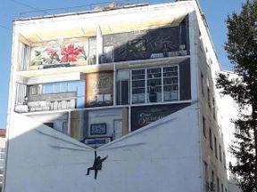 """<p><span style=""""color: rgb(56, 56, 56);"""">Этим летом в нашем городе на стенах домов появились необычные художественные панно выполненные в стиле ГРАФФИТИ... По согласованию с архитектурным департаментом городского&nbsp;</span><span style=""""color: rgb(56, 56, 56); background-color: rgb(255, 80, 120);"""">акимата</span><span style=""""color: rgb(56, 56, 56);"""">, лучшие в городе СТРИТ АРТ&nbsp;художники, нарисовали картины на разные темы. Темы они подбирали сами. На радость горожанам, которые вместо пустых пространств строений и зданий, теперь получили возможность любоваться настоящим искусством! Следующим летом эта замечательная практика будет продолжена! Подходящие площадки уже определены!</span></p>"""
