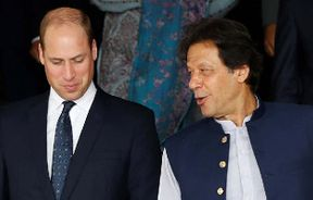 """<p>The royal couple stepped out on Tuesday for their first big tour of Pakistan and headed to Islamabad Model College for Women, where they bonded with a group of teenagers over their mutual respect for Princess Diana.</p><p>Cambridge's Duke and Duchess were accompanied by Thomas Drew, British High Commissioner to Pakistan, Chief Private Secretary to the Duke Mr Simon Case, and Christian Jones, Secretary of Communications to the Duke and Duchess of Cambridge.</p><p>The royal couple touched down on Monday night at Noor Khan Airbase, where they had rolled out a red carpet. Foreign Minister Shah Mahmood Qureshi and his family welcomed them together with British High Commissioner Thomas Drew. It was identified by Kensington Palace as their most complex visit so far and the itinerary was kept under wraps for their five-day stay. A statement said that during their visit """"the royal couple want to meet as many Pakistanis as possible.""""</p>"""